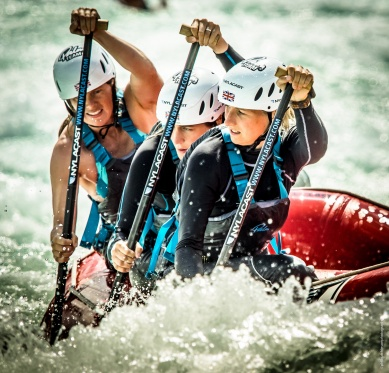 GB Ladies Rafting Team at Lee Valley WWC 2015