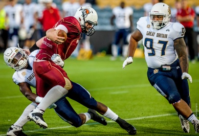 Great Britian vs Russia American Football Internationals at Sixways Stadium Worcester
