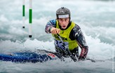 Adam Burgess competing at the British Canoeing Slalom S, U23 & J Selections at Lee Valley White Water Centre London