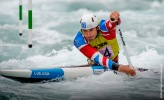 David Florence competing at the British Canoeing Slalom S, U23 & J Selections at Lee Valley White Water Centre London