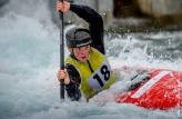 Beth Forrow competing at the British Canoeing Slalom S, U23 & J Selections at Lee Valley White Water Centre London