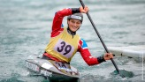 Mallory Franklin competing at the British Canoeing Slalom S, U23 & J Selections at Lee Valley White Water Centre London