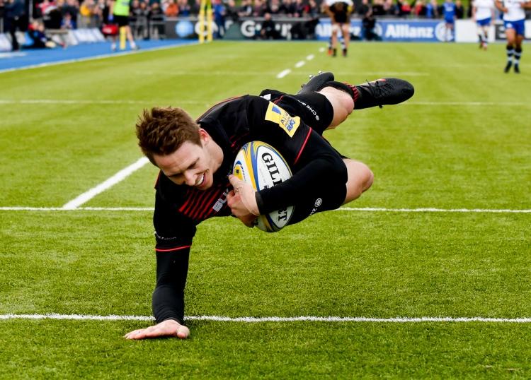 Saracens v Bath Rugby Aviva Premiership 15/04/2018.